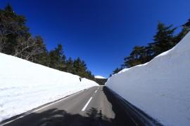 Snowy Drive Along Bandai-Azuma Skyline