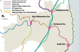 Train Lines in Fukushima Prefecture