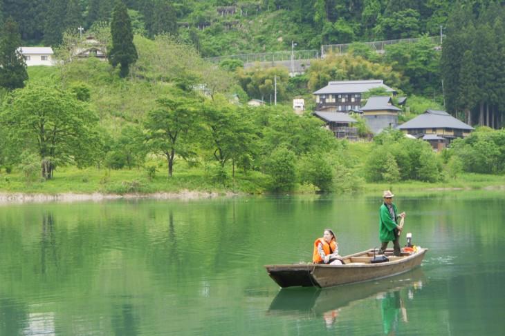 Crossing Mugenkyo Ravine by Ferry (Mugenkyo no Watashi)