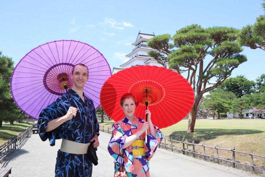 Trải nghiệm Kimono ở Thành phố Aizu-Wakamatsu