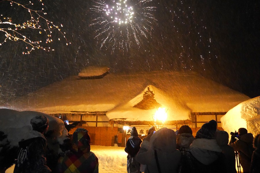 오우치주쿠 유키마츠리(눈 축제)(시모고우마치)